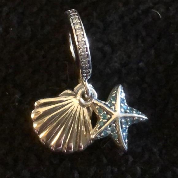 a8cb67454 Jewelry | Pandora Tropical Starfish Shell Dangle Charm | Poshmark